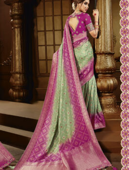 Shop the beautiful classy saree. We are offering the latest classic look which is arriving just at SHAHiFits. So, keep your wardrobe replace with new Gray Colour Best Saree for Wedding Party