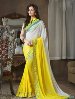 Best Saree in Online Double Shade Plain Saree