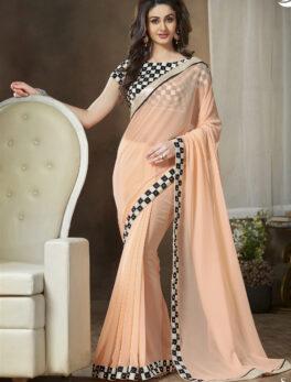 Check Print Designer Blouse Best Saree Design Online