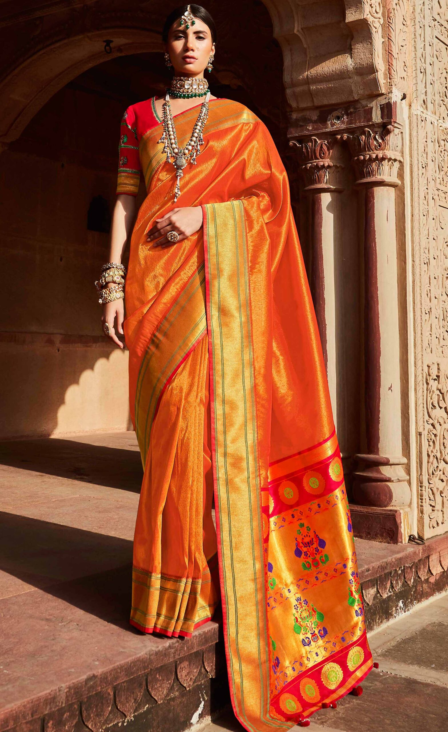 Latest Wedding Banarasi Saree for New Bride