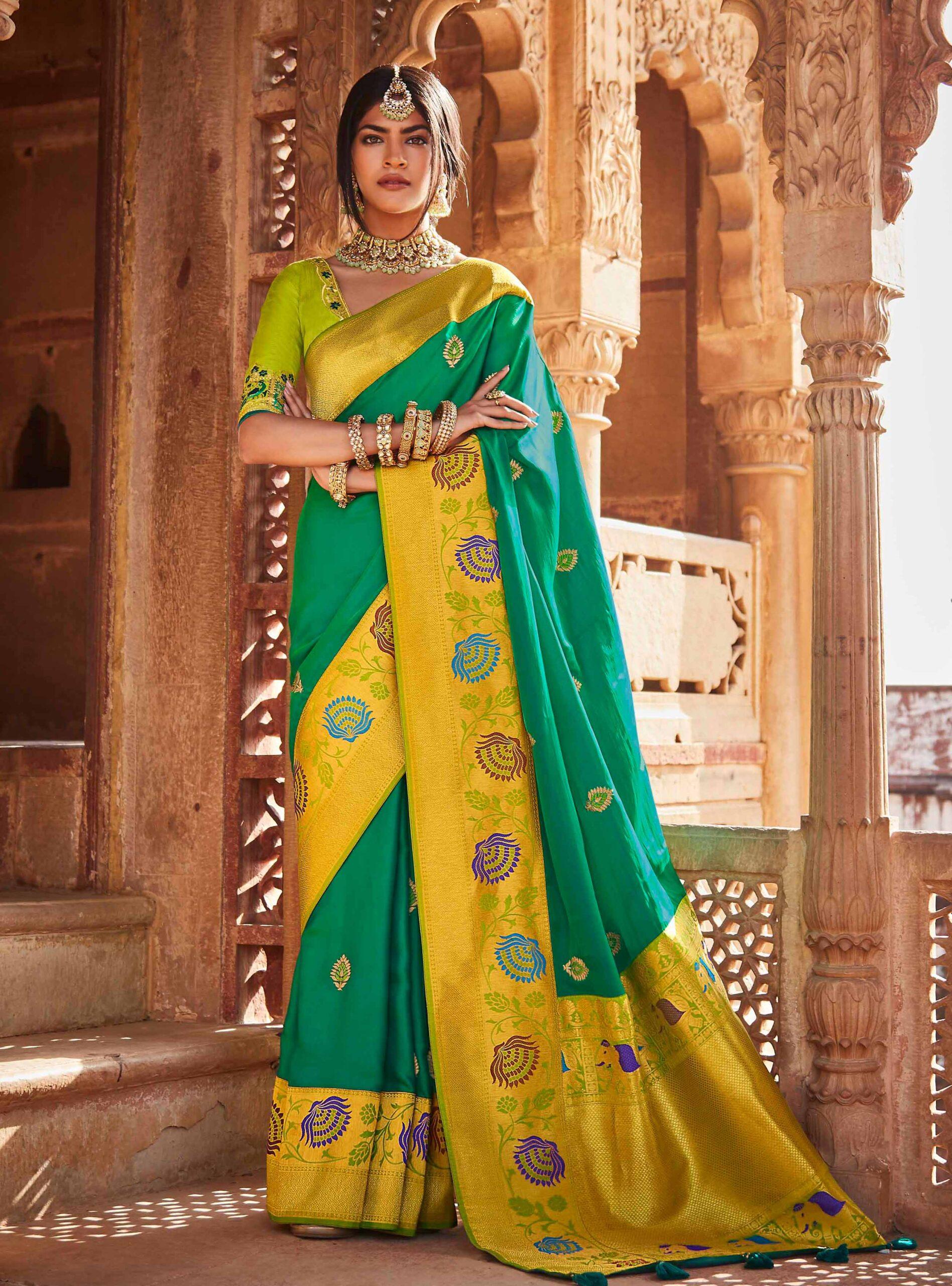 Traditional Banarasi Saree Blouse Designs Digital Print Form