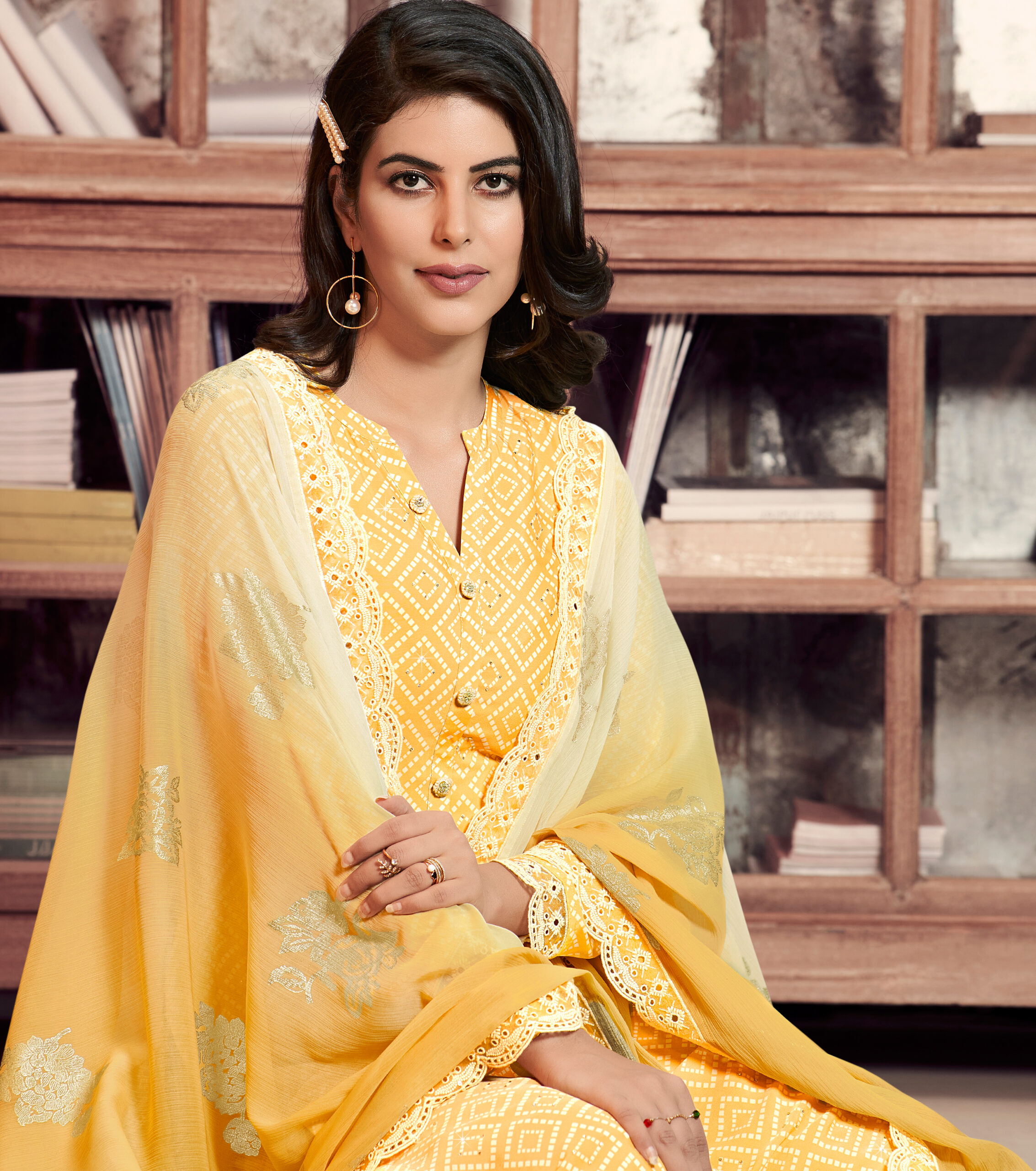 Yellow Salwar Suit Designer with Dupatta