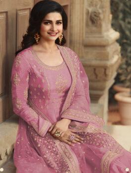 Best Designer Pink Anarkali Gown