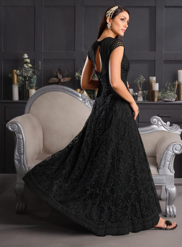 black gown for wedding