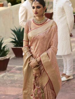 Peach colour silk sarees with price
