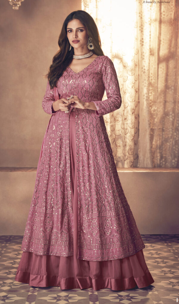 Latest Gown 2021 in Lilac Colour