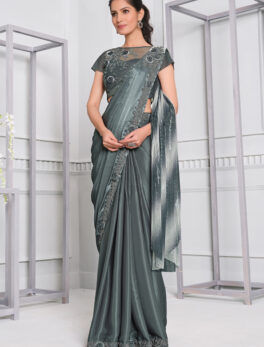 Latest Designer Saree Party Wear Lycra