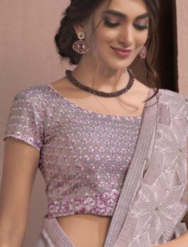 Purple Colour New Designer Fancy Saree Online
