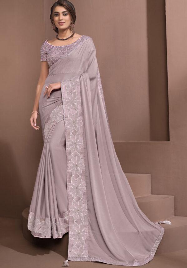 Plain Saree with Designer Blouse Online