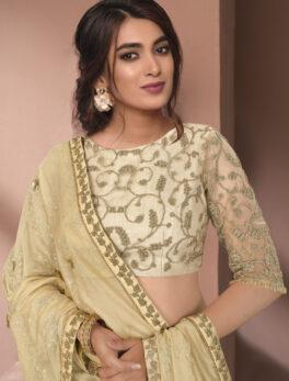Fancy Saree Online Shopping in Lemonade Colour