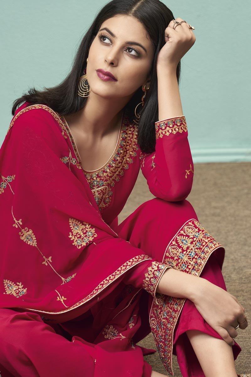 Karwa Chauth Special Suits in Red Colour