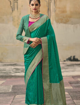 New Designer Border Silk Saree Blouse Design