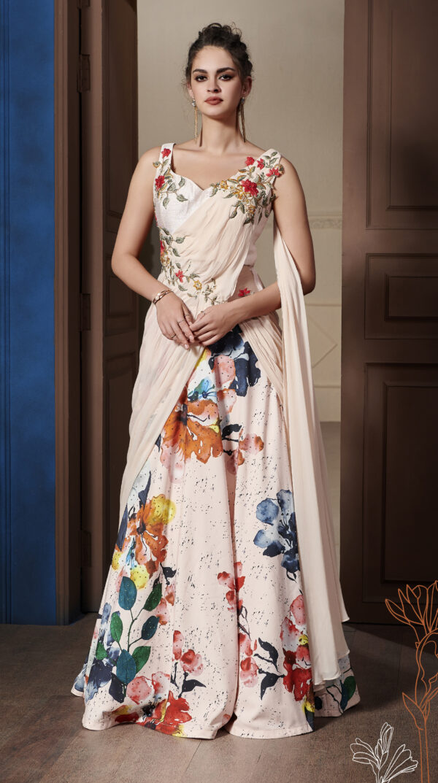 New Essence of Royal Designer Floral Lehenga