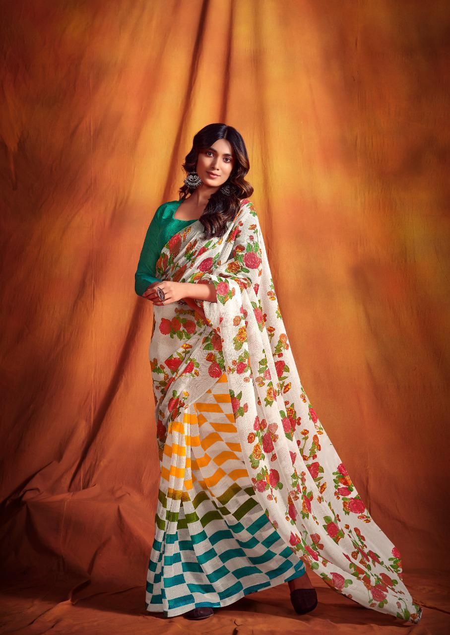 Office Wear Designer Linen Sarees Online