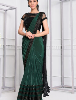 Latest fancy sarees for wedding reception