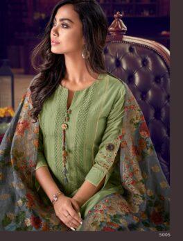 baby green colour latst heavy dupatta suit images