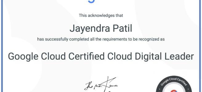 Google Cloud Certified - Cloud Digital Leader Certificate