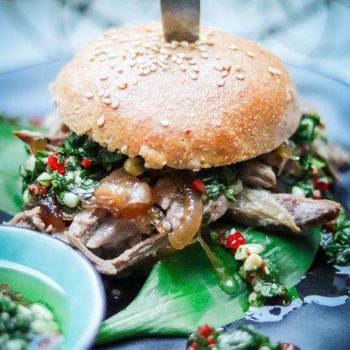 Pulled Lamb Burger - Mein wunderbares Chaos