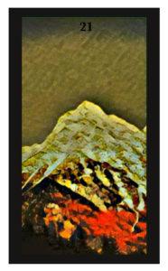 Lenormand Mountain Card