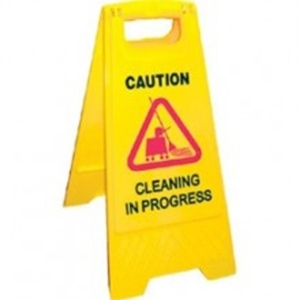 floor cleaning sign