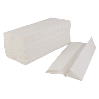 White Luxi C-fold hand towels