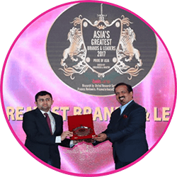 """Awarded as """"Asia's greatest Brand"""" by One of the biggest in the asian subcontinent reviewed by price water house coppers p.l. for the category of asia's greatest 100 brands the year."""