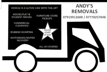 Man and a van call us any time Short notice