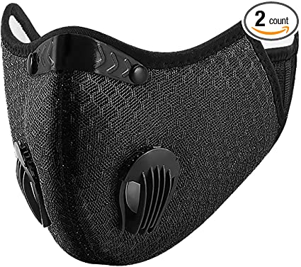 1PC pure black Mask With 1 replaceable Filter Half Face Reusable