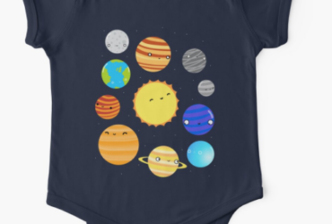 The Solar System Baby One-Piece