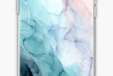 Beachy Pastel Flowing Ombre Abstract 1 iPhone Case  Cover