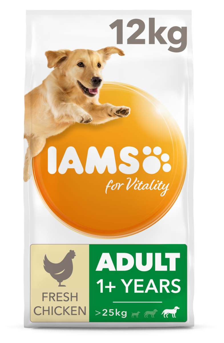 Iams Adult Large Breed Chicken Dry Dog Food – 12kg