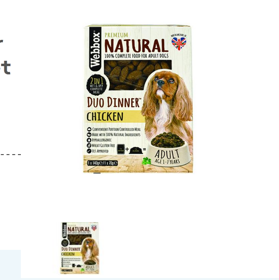 Webbox Natural Chicken Duo Dinner Complete Dry & Wet Dog Food – Single