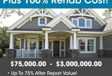 90% PURCHASE & 100% REHAB-INVESTOR FIX & FLIP FUNDING Up To $2,000,000.00 – No Income Docs!