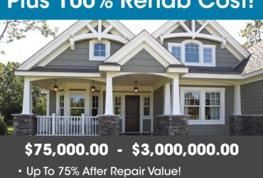 90% PURCHASE & 100% REHAB – INVESTOR FIX & FLIP FUNDING Up To $2,000,000.00 – No Income Docs!