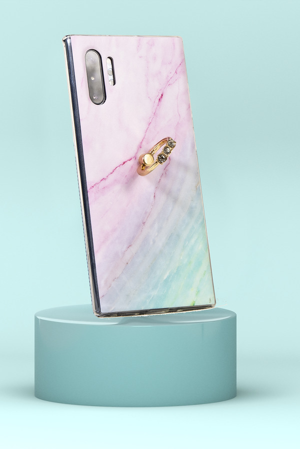 3 STONE DIAMOND RING PINK AND TURQUOISE PHONE CASE (IPHONE AND SAMSUNG)