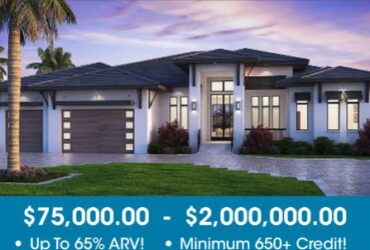100% Fix & Flip Financing – Includes 100% Of Purchase Price & Rehab Cost – Up To $2,000,000.00!