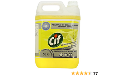 Roll over image to zoom in CIF 7517879 Professional All Purpose Cleaner, Lemon, 5 L