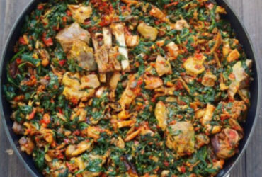 West African Beef Spinach Stew Dish For 4