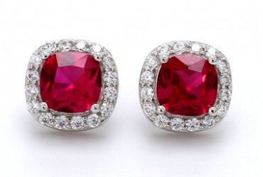 Buy Red Colour Stone Earrings online in India   Ornate Jewels