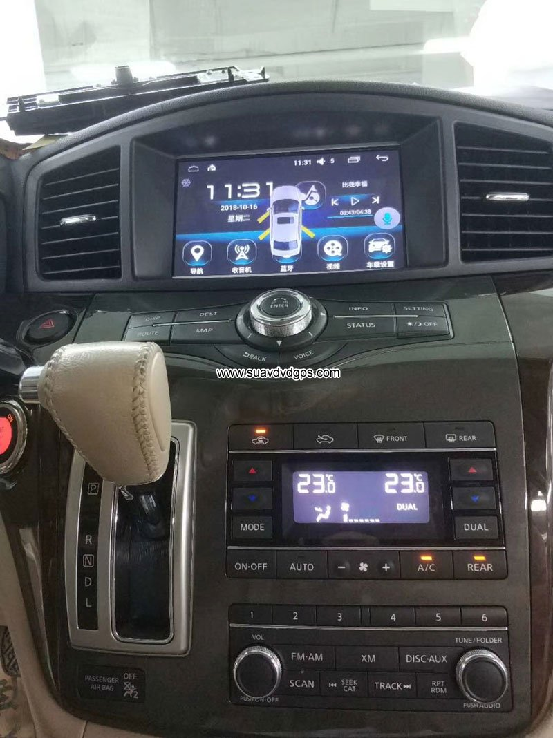 Nissan Quest Car stereo audio radio android GPS navigation camera