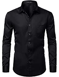 Man Dress Shirts with Chest Pocket
