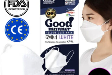 Good Manner KF94 Mask with FDA and CE Approval White 100pcs