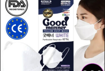 Good Manner KF94 Mask with FDA and CE Approval White 300pcs