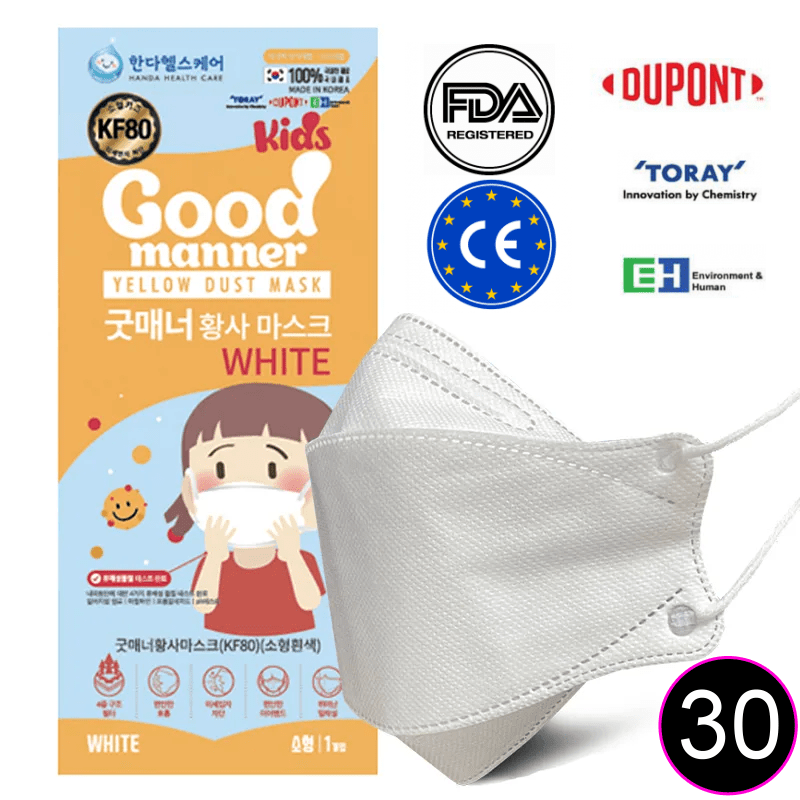 Good Manner KF94 KIDS Mask with FDA and CE Approval 30pcs