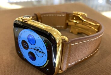 44mm Apple Watch Series 5 Custom 24K Gold Plated Stainless Steel GPS Cellular
