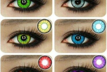1 Pair Unisex Beautiful Contact Lenses Halloween Cosplay Lens for Eyes