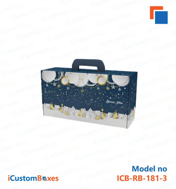 Suitcase Gift Boxes with handles are available at ICustomBoxes