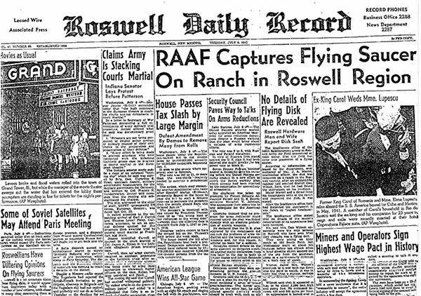 giornale caso-Roswell