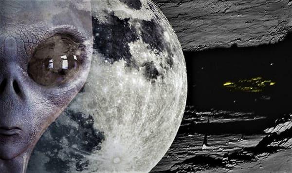Presunta nave aliena sulla luna