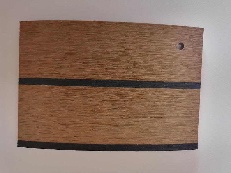 Treaditional colour PVC synthetic teak